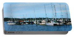 Portable Battery Charger featuring the photograph Boats At Newport Ri by Susan Savad