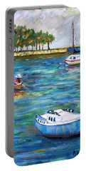Boats At St Petersburg Portable Battery Charger