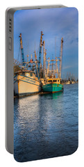 Boats In Blue Portable Battery Charger