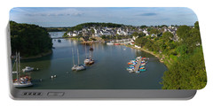 Boats In The Sea, Le Bono, Gulf Of Portable Battery Charger by Panoramic Images