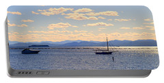 Boats On Lake Champlain Vermont Portable Battery Charger by Catherine Sherman