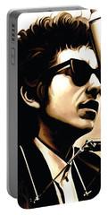 Bob Dylan Artwork 3 Portable Battery Charger by Sheraz A