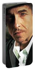 Bob Dylan Artwork Portable Battery Charger by Sheraz A