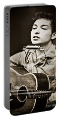 Portable Battery Charger featuring the photograph Bob Dylan by Gary Keesler