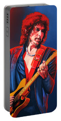 Bob Dylan Painting Portable Battery Charger by Paul Meijering