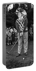 Bob Hope At Bing Crosby National Pro-am Golf Championship  Pebble Beach Circa 1955 Portable Battery Charger