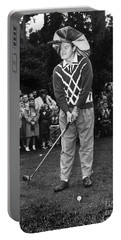 Bob Hope At Bing Crosby National Pro-am Golf Championship  Pebble Beach Circa 1955 Portable Battery Charger