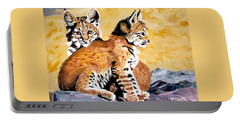 Bob Kittens Portable Battery Charger by Phyllis Kaltenbach