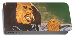 Portable Battery Charger featuring the painting Bob Marley by Rachel Natalie Rawlins