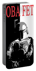 Portable Battery Charger featuring the digital art Boba Fett- Gangster by Dale Loos Jr