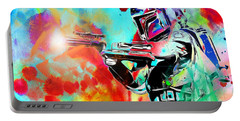 Boba Fett Star Wars Portable Battery Charger by Daniel Janda