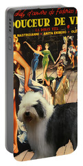 Bobtail -  Old English Sheepdog Art Canvas Print - La Dolce Vita Movie Poster Portable Battery Charger