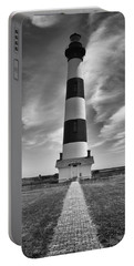 Bodie Island Light In Monochrome Portable Battery Charger