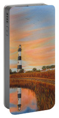 Portable Battery Charger featuring the painting Bodie Island Lighthouse by Fran Brooks