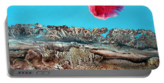 Portable Battery Charger featuring the painting Bogomil Sunrise 2 by Otto Rapp