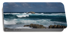 Boiling The Ocean At Laie Point - North Shore - Oahu - Hawaii Portable Battery Charger
