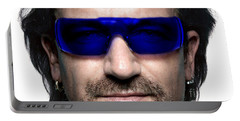 Bono Of U2 Portable Battery Charger by Marvin Blaine