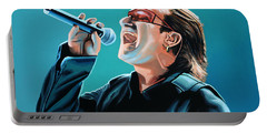 Bono Of U2 Painting Portable Battery Charger