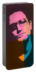 Bono Pop Art Portable Battery Charger by Dan Sproul
