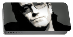 Bono Poster Portable Battery Charger by Dan Sproul