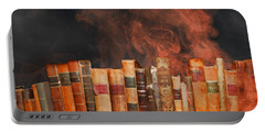 Book Burning Inspired By Fahrenheit 451 Portable Battery Charger