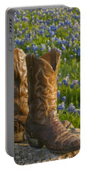 Boots And Bluebonnets Portable Battery Charger