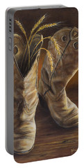 Boots And Wheat Portable Battery Charger
