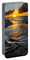 Boracay Sunset Portable Battery Charger by Adrian Evans