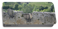 Bordeaux Castle Ruins With Vineyard Portable Battery Charger
