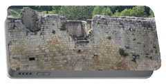 Portable Battery Charger featuring the photograph Bordeaux Castle Ruins With Vineyard by HEVi FineArt
