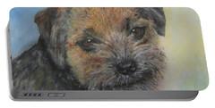 Border Terrier Jack Portable Battery Charger by Richard James Digance