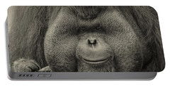 Bornean Orangutan II Portable Battery Charger by Lourry Legarde