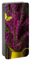 Boronia With Yellow Butterfly Portable Battery Charger