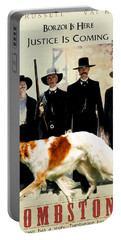 Borzoi Art - Tombstone Movie Poster Portable Battery Charger