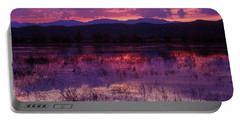 Bosque Sunset - Purple Portable Battery Charger