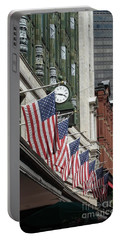 Boston 4th Of July Portable Battery Charger by Kerri Mortenson