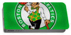 Boston Celtics Canvas Portable Battery Charger by Dan Sproul