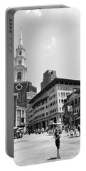 Boston Common Scene Portable Battery Charger