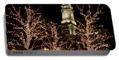 Boston Custom House With Christmas Lights Portable Battery Charger