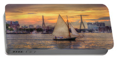 Boston Harbor Sunset Sail Portable Battery Charger