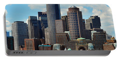 Boston Skyline Portable Battery Charger by Randi Grace Nilsberg