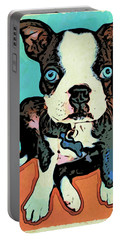 Boston Terrier - Blue Portable Battery Charger