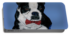 Boston Terrier With A Bowtie Portable Battery Charger