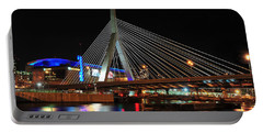 Boston's Zakim-bunker Hill Bridge Portable Battery Charger by Mitchell R Grosky