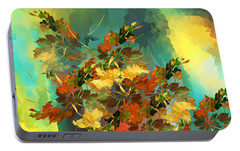 Portable Battery Charger featuring the digital art Botanical Fantasy 090914 by David Lane