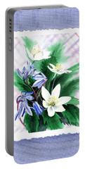 Botanical Impressionism Jasmine Flowers Bouquet Portable Battery Charger