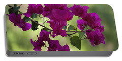 Bougainvillea Portable Battery Charger by Fred Larson