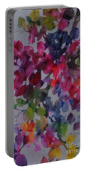 Bougainvillea Portable Battery Charger by Michelle Abrams