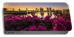Bougainvillea On The West Palm Beach Waterway Portable Battery Charger