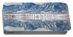Boulder Reservoir Flatirons Reflections Boulder Colorado Portable Battery Charger